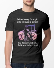 Behind Every Farm Girl Farmer  Classic T-Shirt lifestyle-mens-crewneck-front-13