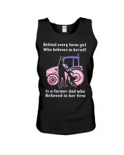 Behind Every Farm Girl Farmer  Unisex Tank thumbnail