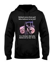 Behind Every Farm Girl Farmer  Hooded Sweatshirt thumbnail