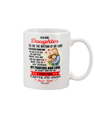 Daughter Dad A Blessing From God Mug CC