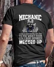 Mechanic Using A High School Diploma To Fix Classic T-Shirt lifestyle-mens-crewneck-back-2