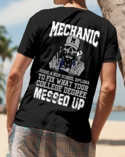 Mechanic Using A High School Diploma To Fix Classic T-Shirt lifestyle-mens-crewneck-back-4