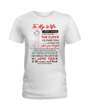 Family Wife The Clock The Moon Ladies T-Shirt thumbnail