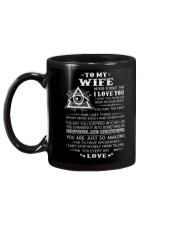 My Wife Believe Deep In Your Heart Freemason Mug back
