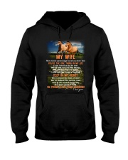 Words Begin To Tell How I Feel Horse Wife Hooded Sweatshirt thumbnail