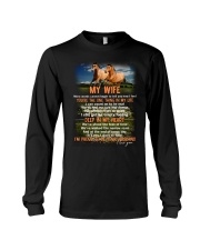 Words Begin To Tell How I Feel Horse Wife Long Sleeve Tee thumbnail