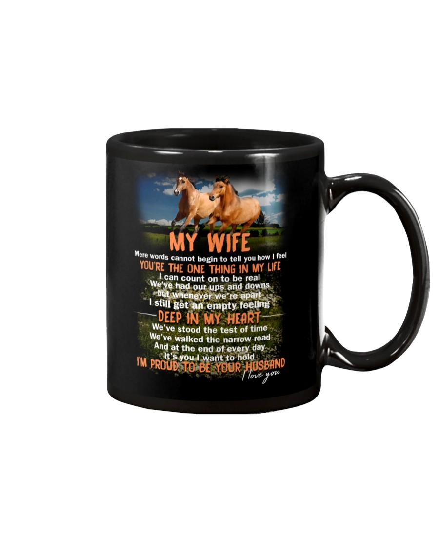 Words Begin To Tell How I Feel Horse Wife Mug