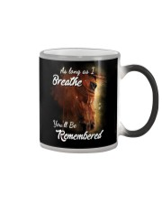 As Long As I Breath You'll Be Remembered Horse  Color Changing Mug thumbnail