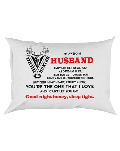 Hunting Husband Good Night Sleep Tight Pillow