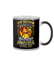 Firefighter Love Makes Me Stronger Boyfriend Color Changing Mug thumbnail