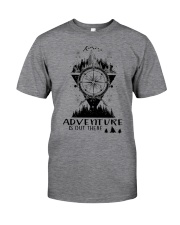 HIKING Adventure is out there Classic T-Shirt tile
