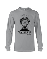 HIKING Adventure is out there Long Sleeve Tee tile