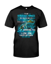 To My Gorgeous Fiancee Meeting You Was Fate Turtle Classic T-Shirt thumbnail