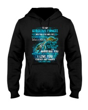 To My Gorgeous Fiancee Meeting You Was Fate Turtle Hooded Sweatshirt thumbnail