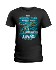 To My Gorgeous Fiancee Meeting You Was Fate Turtle Ladies T-Shirt thumbnail