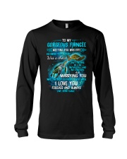 To My Gorgeous Fiancee Meeting You Was Fate Turtle Long Sleeve Tee thumbnail