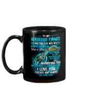 To My Gorgeous Fiancee Meeting You Was Fate Turtle Mug back