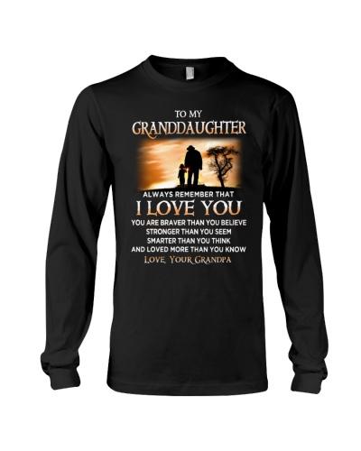 Family Granddaughter Grandpa I Love You