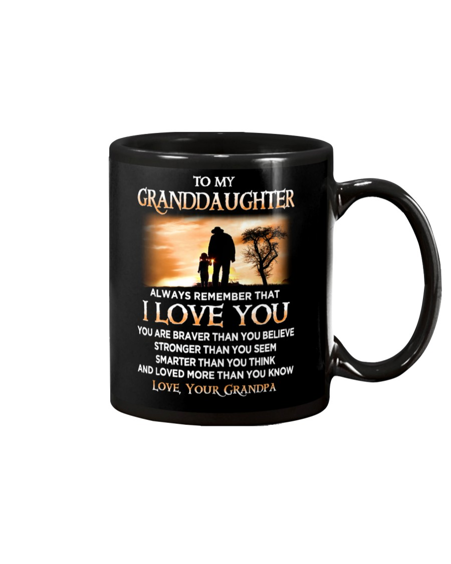 Family Granddaughter Grandpa I Love You Mug showcase
