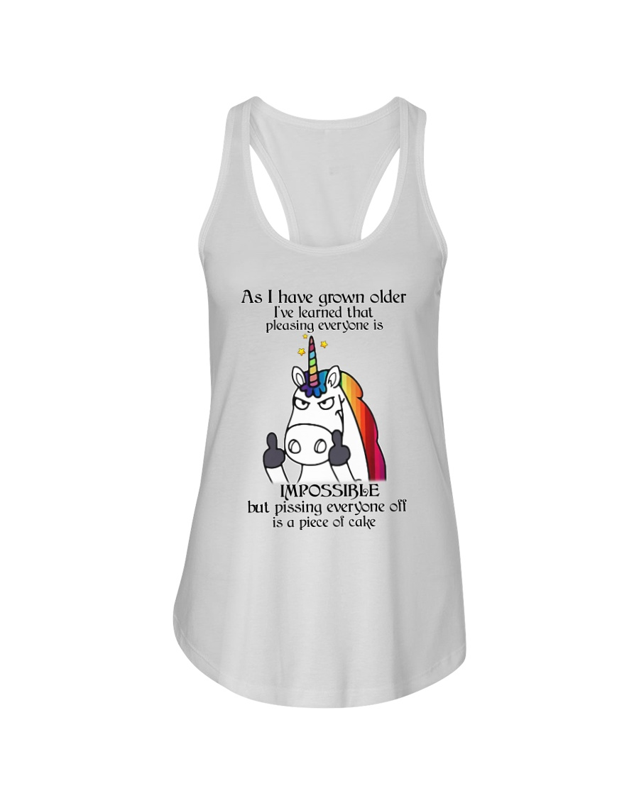 Unicorn pissing people off shirt CC Ladies Flowy Tank