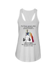 Unicorn pissing people off shirt CC Ladies Flowy Tank front