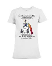 Unicorn pissing people off shirt CC Premium Fit Ladies Tee thumbnail