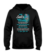 Dear Sister Always Remember Turtle  Hooded Sweatshirt thumbnail