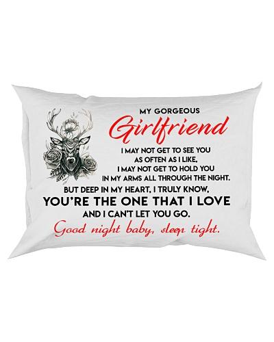 Hunting Girlfriend Good Night Sleep Tight Pillow