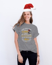 And God Said Let There Be A Mom Family Classic T-Shirt lifestyle-holiday-crewneck-front-1