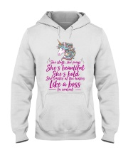 She Slays She Prays She's Beautiful Unicorn Hooded Sweatshirt tile