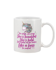 She Slays She Prays She's Beautiful Unicorn Mug tile