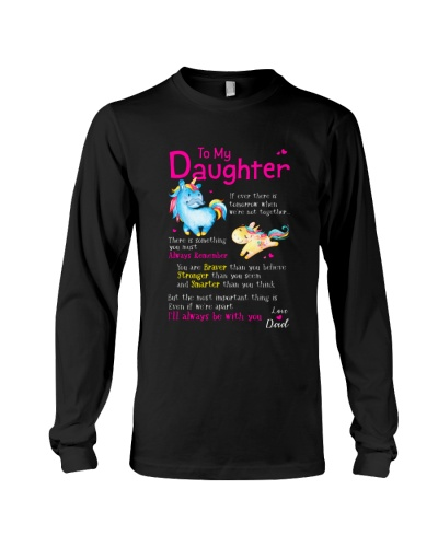 Unicorn Daughter Dad Braver Stronger Smarter