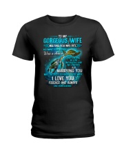 To My Gorgeous Wife Meeting You Was Fate Turtle Ladies T-Shirt thumbnail