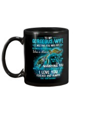 To My Gorgeous Wife Meeting You Was Fate Turtle Mug back