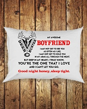 Hunting Boyfriend Good Night Sleep Tight Pillow Rectangular Pillowcase aos-pillow-rectangle-front-lifestyle-2