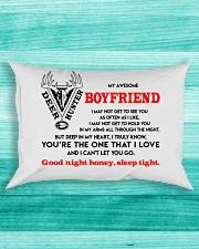 Hunting Boyfriend Good Night Sleep Tight Pillow Rectangular Pillowcase aos-pillow-rectangle-front-lifestyle-5