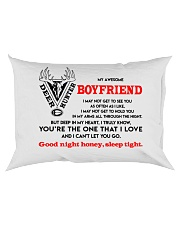 Hunting Boyfriend Good Night Sleep Tight Pillow Rectangular Pillowcase back