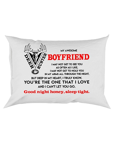 Hunting Boyfriend Good Night Sleep Tight Pillow