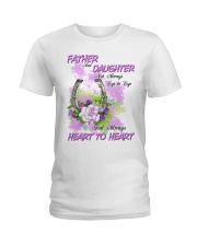 Father And Daughter Not Always Eyes To Eyes Horse Ladies T-Shirt thumbnail