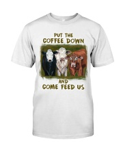 Put The Coffee Down Come Feed Us Cow Classic T-Shirt thumbnail