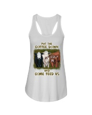 Put The Coffee Down Come Feed Us Cow Ladies Flowy Tank thumbnail