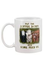 Put The Coffee Down Come Feed Us Cow Mug back