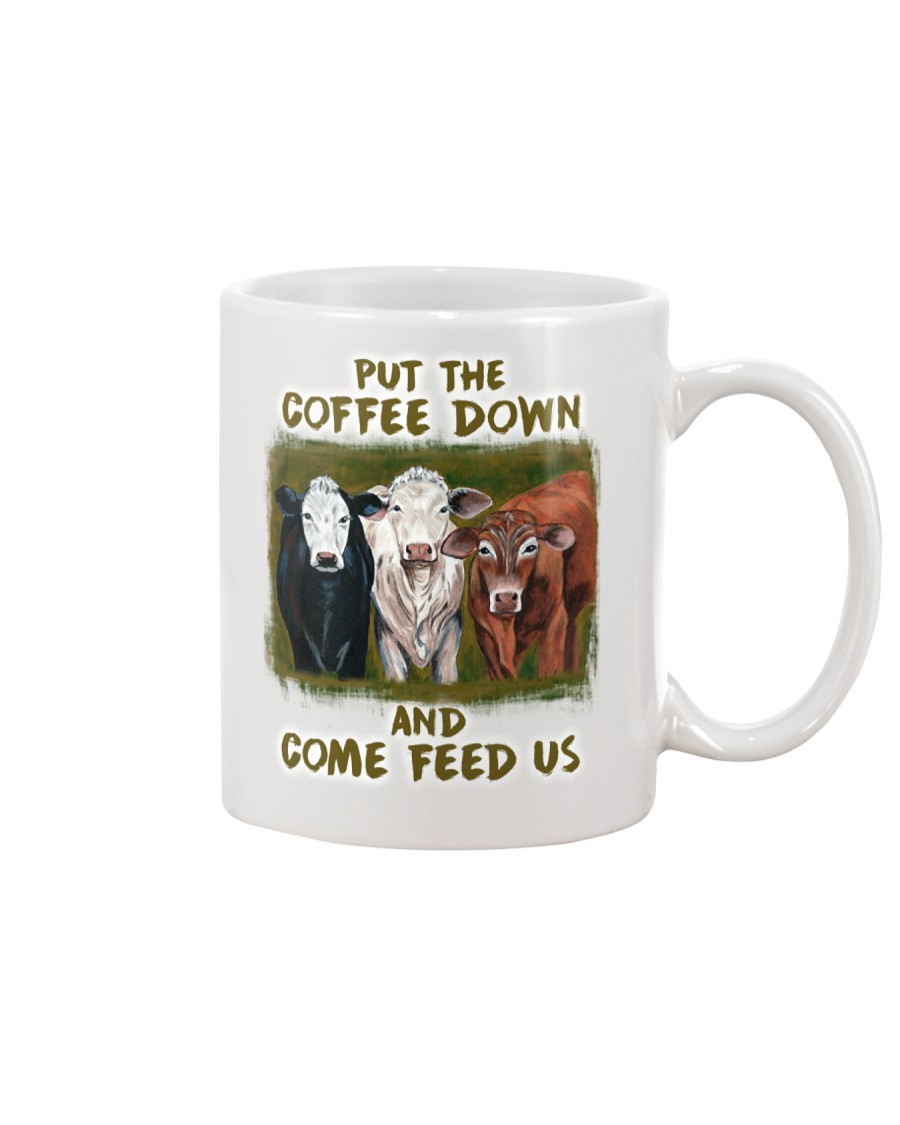 Put The Coffee Down Come Feed Us Cow Mug