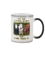 Put The Coffee Down Come Feed Us Cow Color Changing Mug thumbnail