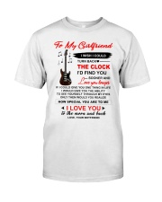 Instruments  Guitar Girlfriend Clock Ability Moon Classic T-Shirt tile