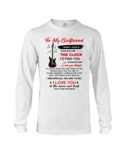 Instruments  Guitar Girlfriend Clock Ability Moon Long Sleeve Tee thumbnail