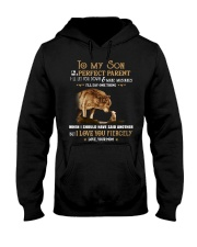 I'm Not A Perfect Parent Wolf Hooded Sweatshirt front