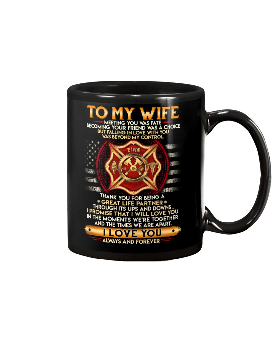 Firefighter Wife Ups And Downs Love Mug