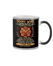 Firefighter Wife Ups And Downs Love Color Changing Mug thumbnail