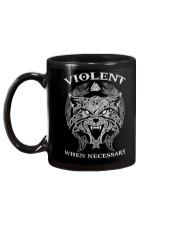 Violent When Necessary Wolf Mug back